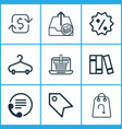 ecommerce icons set with return item refund money vector image vector image