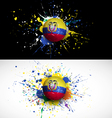ecuador flag with soccer ball dash on colorful vector image vector image