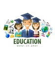 education schooling logo design template vector image vector image