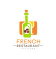 french restaurant logo design authentic vector image vector image