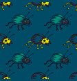 funky bug seamless pattern vector image