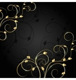 Gold pattern with shadow on dark background vector image vector image