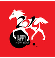 greeting new year card vector image