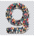 group people shape letter G Transparency vector image vector image