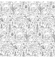 Hand drawn Australia seamless pattern vector image