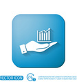 hand holding a chart diagram figure business icon vector image vector image