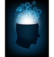 Head of the human mind vector image vector image