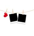 hearts clothespins 07 vector image vector image