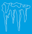 icicles icon outline style vector image vector image