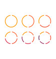 infographics circles icon set business concept vector image vector image