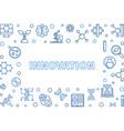 innovation outline horizontal frame vector image vector image