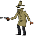 invisible spy with a gun vector image vector image