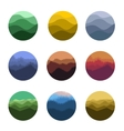 Isolated abstract colorful round shape wild nature vector image