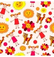kids drawing seamless pattern vector image vector image