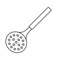 kitchen skimmer icon vector image