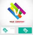 Letter V colors logo vector image vector image