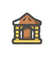 log wooden house icon cartoon vector image