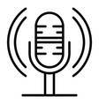 loud microphone icon outline style vector image