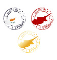 made in Cyprus stamp vector image vector image