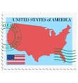 mail to-from United States vector image vector image