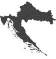 map of croatia split into regions vector image vector image
