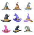 masquerade cartoon witch hat halloween children vector image