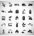 oil industry icons on color white background vector image