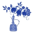 Oriental patterned jugs blue vector image vector image