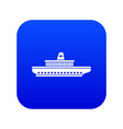 passenger ship icon digital blue vector image vector image