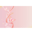 pink vertical background with butterfly vector image vector image
