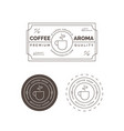 premium coffee label and badge vector image
