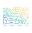 real estate - line design composition - color vector image vector image