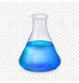 realistic glass laboratory flask