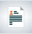resume icon isolated on white background vector image