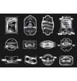 Retro original silver emblems labels collection vector image vector image