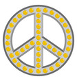 retro peace symbol vector image