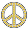 retro peace symbol vector image