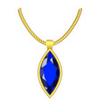 sapphire jewelry icon realistic style vector image