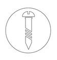 screw icon vector image vector image