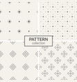 set of four seamless patterns vector image vector image