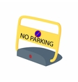 Sign no parking icon cartoon style vector image vector image