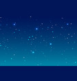 sky night background and many stars blue deep vector image