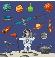 Space Elements Set vector image