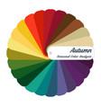 stock color guide seasonal color analysis vector image