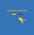 stop plastic pollution save ocean website landing vector image
