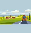 summer trip space for your vector image vector image