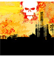 Thick smoke coming out of factory chimney vector image vector image