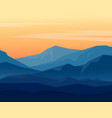 twilight in blue mountains vector image