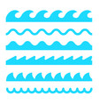 wave icon line sea ocean logo water simple vector image