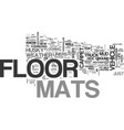 why floor mats can save your life text word cloud vector image vector image